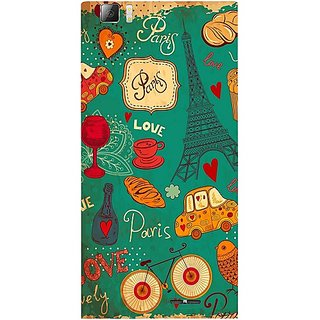 Casotec Paris Love Print Design Hard Back Case Cover For Lenovo K900
