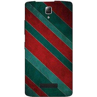 Casotec Striped Pattern Print Design Hard Back Case Cover for Lenovo A2010