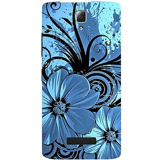 Casotec Cute Floral Blue Pattern Print Design Hard Back Case Cover for Lenovo A2010
