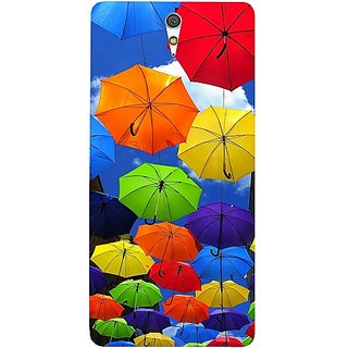 Casotec Colorful Umbrellas Design Hard Back Case Cover for Sony Xperia C5 Ultra