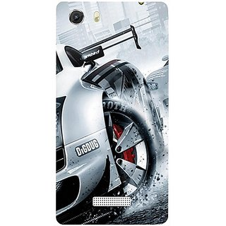 Casotec Drift Sport Print Design Hard Back Case Cover for Micromax Canvas Unite 3 Q372
