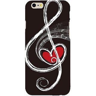 Casotec Love Note Music Design Hard Back Case Cover for Apple iPhone 6 / 6S