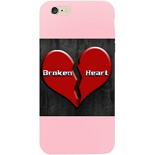 Casotec Broken heart Design Hard Back Case Cover for Apple iPhone 6 Plus / 6S Plus