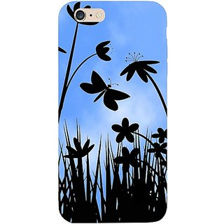 Casotec Beautiful Flower Design Hard Back Case Cover for Apple iPhone 6 Plus / 6S Plus