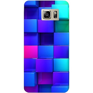 Casotec Blocks Rainbow 3D Graphics Design Hard Back Case Cover for Samsung Galaxy Note 5