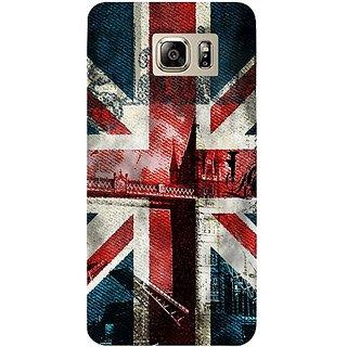 Casotec London Flag wallpaper Design Hard Back Case Cover for Samsung Galaxy Note 5