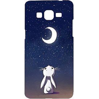 Casotec Moon Bunny Design Hard Back Case Cover for Samsung Galaxy Grand Prime G530