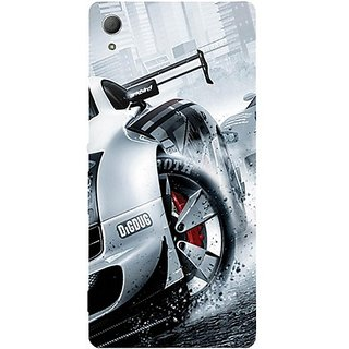 Casotec Drift Sport Print Design Hard Back Case Cover For Sony Xperia Z3 Plus / Z4