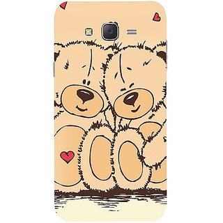 Casotec Teddy Bear Love Design Hard Back Case Cover for Samsung Galaxy J7