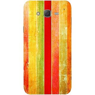Casotec Colored Background Pattern Print Design Hard Back Case Cover for Samsung Galaxy J7