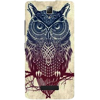Casotec Owl Pattern Print Design Hard Back Case Cover for Lenovo A2010