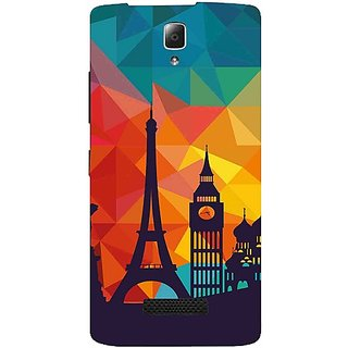 Casotec Colored Paris Pattern Print Design Hard Back Case Cover for Lenovo A2010