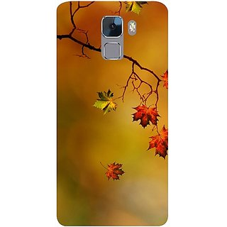 Casotec Colorful Leaves Print Design Design Hard Back Case Cover for Huawei Honor 7