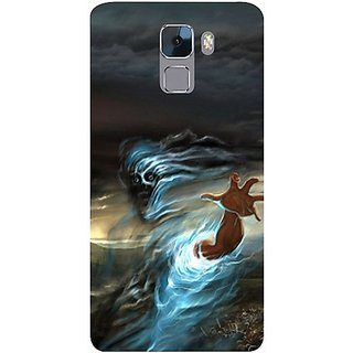 Casotec Ghost In Darkness Design Hard Back Case Cover for Huawei Honor 7
