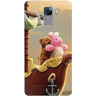 Casotec Funny Titanic Design Hard Back Case Cover for Huawei Honor 7
