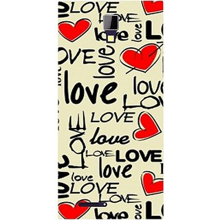Casotec Love Hearts Design Hard Back Case Cover for Micromax Canvas Xpress A99