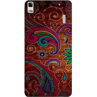 Casotec Wooden Pattern Design Hard Back Case Cover for Lenovo K3 Note