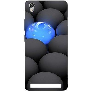 Casotec Balls Dark Neon Sight Surface Design Hard Back Case Cover for Intex Aqua Power Plus