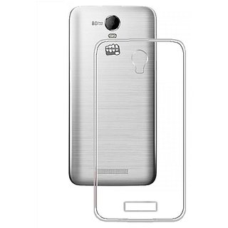 Casotec Soft TPU Back Case Cover for Micromax Canvas Juice 2 AQ5001 - Clear gz2650374