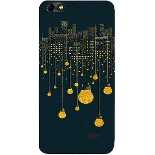 Casotec City Light Pattern Design Hard Back Case Cover for Huawei Honor 4C