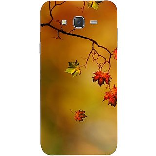 Casotec Colorful Leaves Print Design Design Hard Back Case Cover For Samsung Galaxy J2