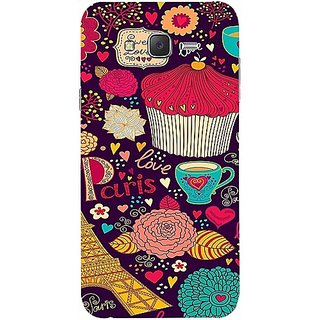 Casotec Paris Flower Love Design Hard Back Case Cover For Samsung Galaxy J2