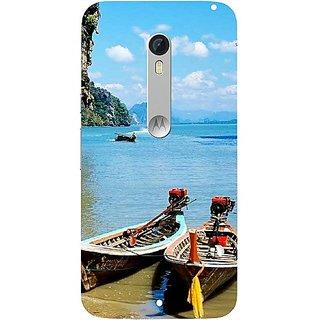 Casotec Sea View Design Hard Back Case Cover for Motorola Moto X Style