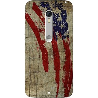 Casotec Vintage American Flag Design Hard Back Case Cover for Motorola Moto X Style