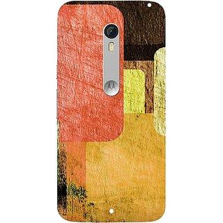 Casotec Vintage Colourfull Pattern Design Hard Back Case Cover for Motorola Moto X Style
