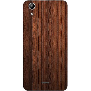 Casotec Wooden Texture Design Hard Back Case Cover for Micromax Canvas Selfie Lens Q345