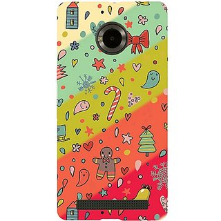 Casotec Vintage Christmas Pattern Print Design Hard Back Case Cover for Micromax YU Yuphoria