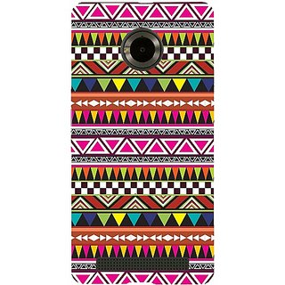 Casotec Azatel Pattern Print Design Hard Back Case Cover for Micromax YU Yuphoria