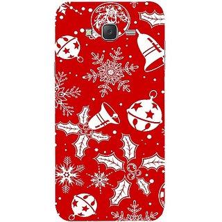 Casotec Christmas Background Pattern Print Design Hard Back Case Cover for Samsung Galaxy J2