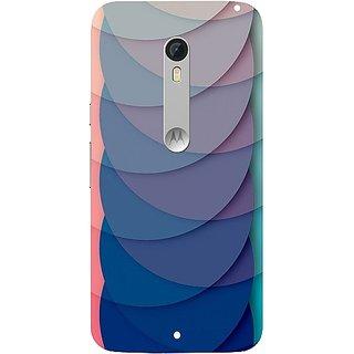 Casotec Waves Pattern Print Design Hard Back Case Cover For Motorola Moto X Style