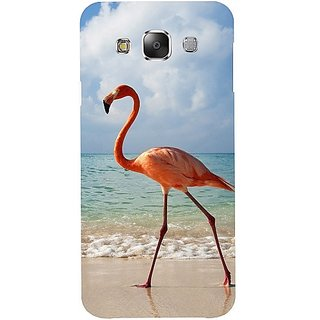 Casotec Egret Bird on Sea Design Hard Back Case Cover for Samsung Galaxy E5