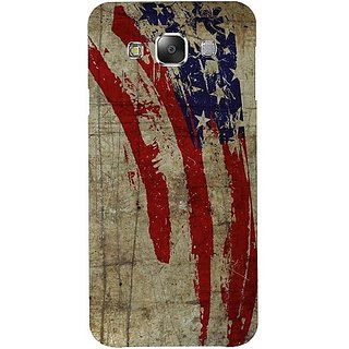 Casotec Vintage American Flag Design Hard Back Case Cover for Samsung Galaxy E5