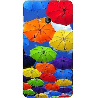 Casotec Colorful Umbrellas Design Hard Back Case Cover for Microsoft Lumia 535
