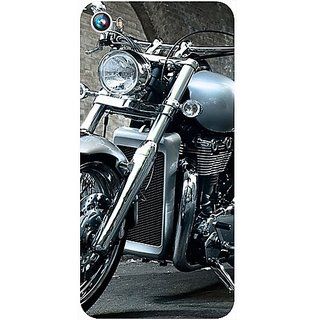 Casotec Motorcycle Design Hard Back Case Cover for Micromax Canvas Fire 4 A107