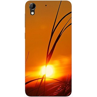 Casotec Moon View Design Hard Back Case Cover for HTC Desire 728G