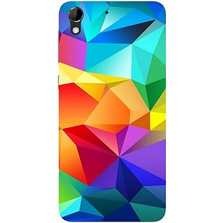 Casotec Colourfull Pattern Design Hard Back Case Cover for HTC Desire 728G