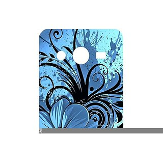 Casotec Cute Floral Blue Design Hard Back Case Cover for Samsung Galaxy Core 2 G355H