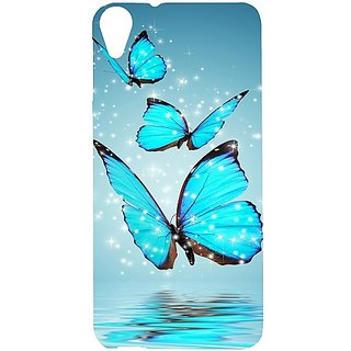Casotec Flying Butterflies Design Hard Back Case Cover for HTC Desire 820