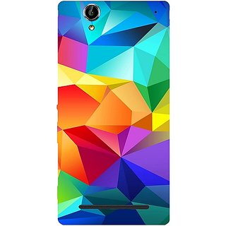 Casotec Colourfull Pattern Design Hard Back Case Cover for Sony Xperia T2 Ultra