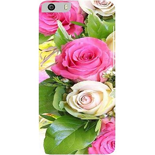 Casotec Rose Flowers Print Design Hard Back Case Cover for Micromax Canvas Knight 2 E471