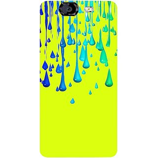 Casotec Neon Paint Design Hard Back Case Cover for Micromax Canvas Knight A350