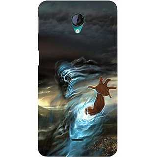 Casotec Ghost In Darkness Design Hard Back Case Cover for Micromax Canvas Unite 2 A106