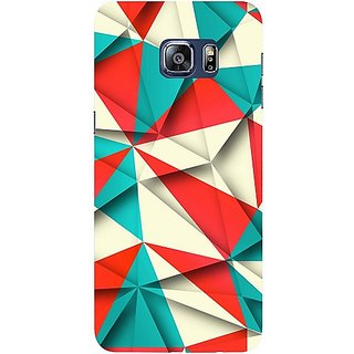Casotec Red Blue White Pattern Design Hard Back Case Cover for Samsung Galaxy S6 edge Plus