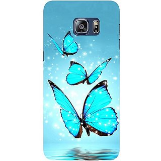 Casotec Flying Butterflies Design Hard Back Case Cover for Samsung Galaxy S6 edge Plus