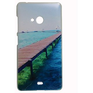 Casotec Clear Sides Print Design Hard Shell Back Case Cover for Microsoft Lumia 540 gz269089