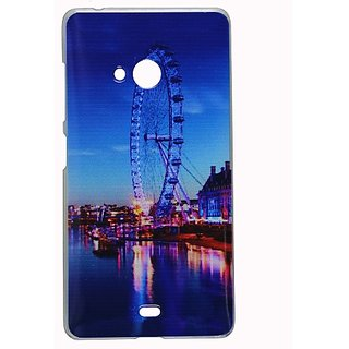 Casotec Clear Sides Print Design Hard Shell Back Case Cover for Microsoft Lumia 540 gz269090
